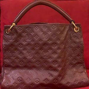 LV Artsy MM Monogram Leather Hobo